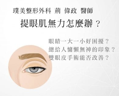 大小眼、提眼肌PTT、眼睛無神、提眼肌術後